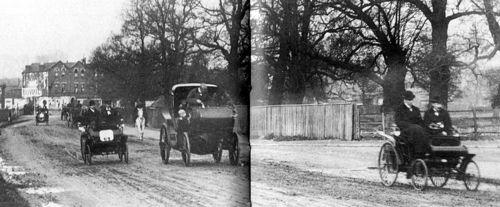 1896 emancipation day run, london-brighton - benz leads canstatt-daimler