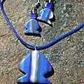 Parure poissons bleus - 22$
