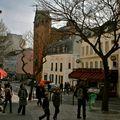 Eglise Saint-Jean de Montmartre depuis la rue des Abbesses.