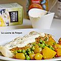 Filet de cabillaud cuit à basse température nappé de sauce aux poireaux Potier