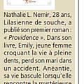 PROVIDENCE chez édilivre (Nathalie L. NEMIR)
