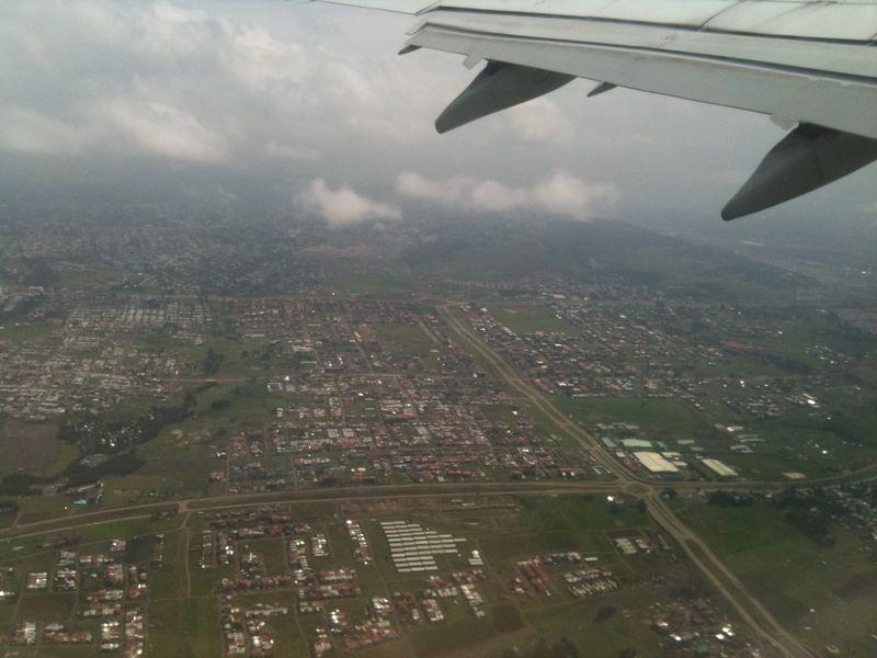 La vue du dernier avion