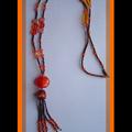 Sautoir Orange