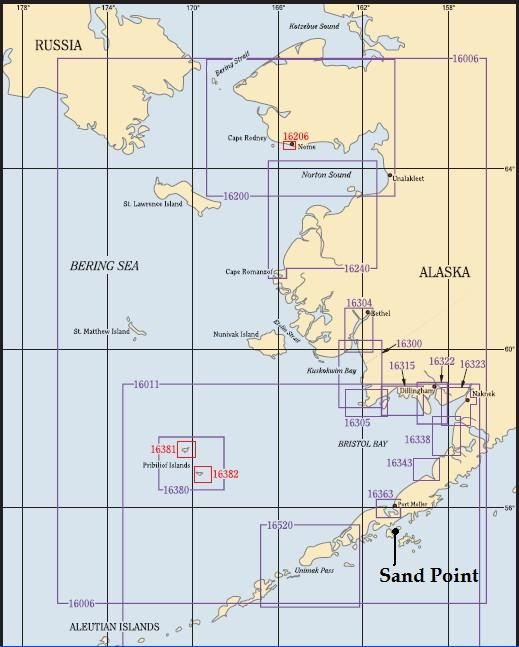 Bering sea to SW Alaska
