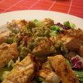 Salade de poulet et tartare d'avocat