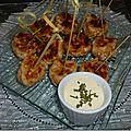 Boulette de poulet au tandoori et crème a la moutarde