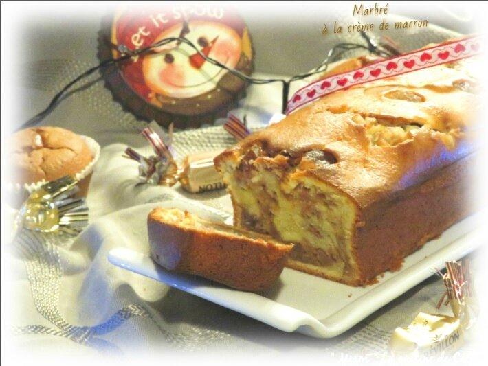 """ღ """" Miam """" Marbré à la crème de marrons"""