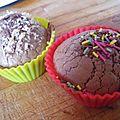 Muffins choco et choco/coco