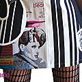 Robe maille Noir Blanc Look graphique & patch Imprimé Coupures Mode et imprimé pied de coq