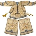 A rare partial suit of <b>ceremonial</b> armor with dragon decoration, Late Qing dynasty