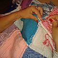 Couverture en tricot pour l'hiver