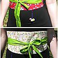 Une ceinture obi pour kibô-promesse et le japon