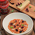<b>RISOTTO</b> TOMATE ET OLIVES