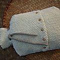Dans la boutique : cache-<b>bouillote</b> en laine