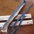 dégarnissage des bords en bois