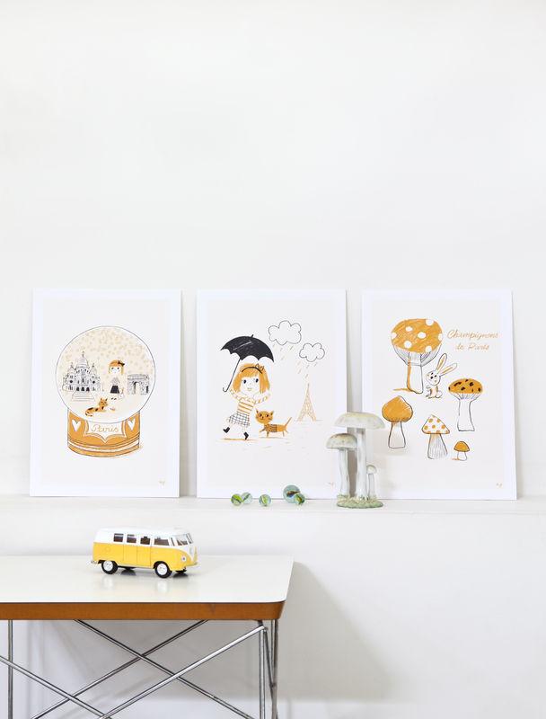 Affiches Petit Paris - décoration chambre fille - Marion Piffare