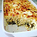 Gratin coquillettes & courgettes