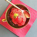 Sorbet à la fraise ♥ ♥ ♥