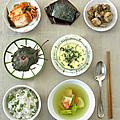 Repas coréen, à votre santé