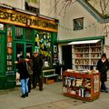 La pittoresque librairie de langue anglaise, Shakespeare and co, quai de Montebello.