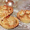Mini quiches poireaux et noix de pétoncles