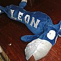 renard bleu et argent, blue and silver handmade fox (4)