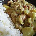 Curry de poulet jamaïcain au jambon