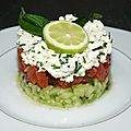 Tartare de concombre,tomate et feta