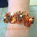 Bracelet de Mariage cuivre et orange
