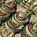 Roulé épinards saumon fromage frais