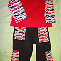 Ensemble pantalon / tee-shirt pompier