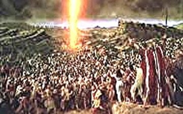 Exode-la Pâque-olonne d feu comme guide