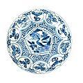A blue and white kraak saucer dish, wanli, 1573-1619