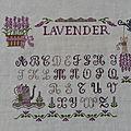 Nouvelle étape du sampler lavender