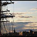 Coucher du soleil sur Stockholm