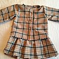 Robe fillette style burberry