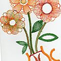 Bouquet de fleurs en vase