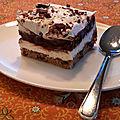 Dessert fouetté, pâte biscuits aux pépites de chocolat