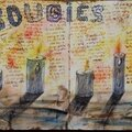 Challenge artjournal et gribouillages # 82 : bougies