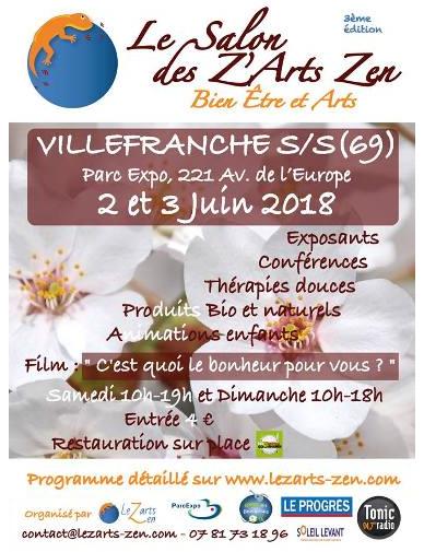 Salon du bien-être à Villefranche (69) les 2 et 3 juin 2018