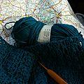 Tricoter en voyageant...
