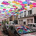 Umbrella Sky Project : Les parapluies de <b>LENS</b> (Patricia Cunha - Opération <b>Start</b>'<b>in</b> <b>Lens</b>)