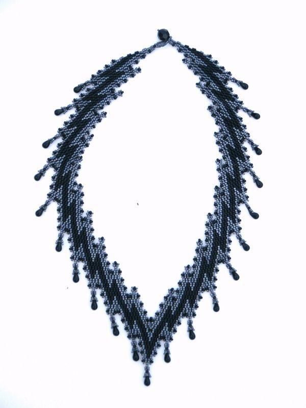 collier mimic noir hématite