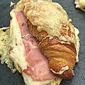Croissants au jambon sans oeufs