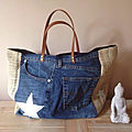 <b>Sac</b> Sardine & Cie Collection Jean/<b>Jute</b>