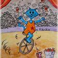 chat roule et jongle au cirque