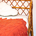 <b>Plaid</b> en crochet vintage Terracotta