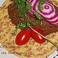 puree ratatouille et crepes au mais