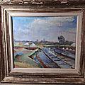 Ancien Tableaux Marais Salants Le Croisic Guérande Signé et Daté 1947