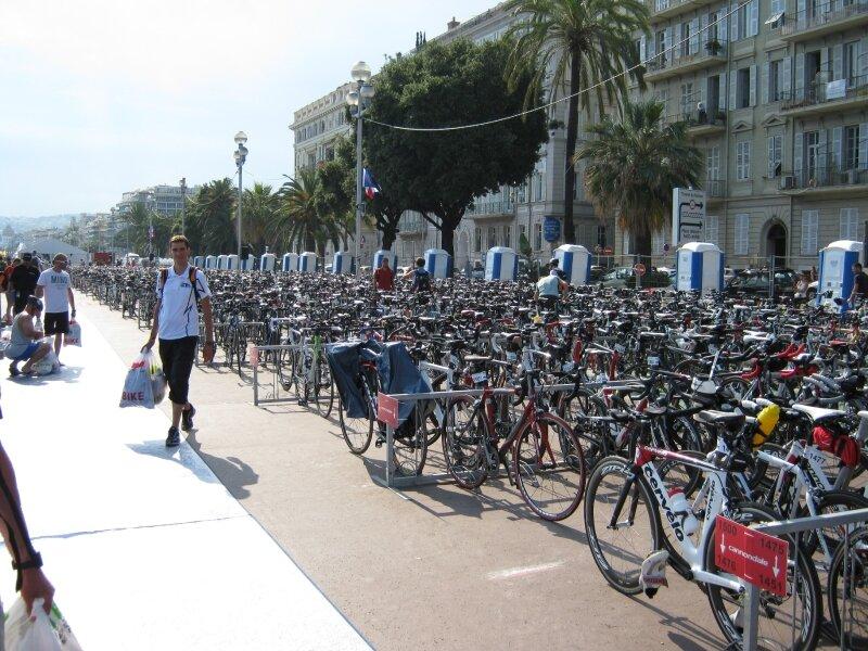 Vue du parc à vélo